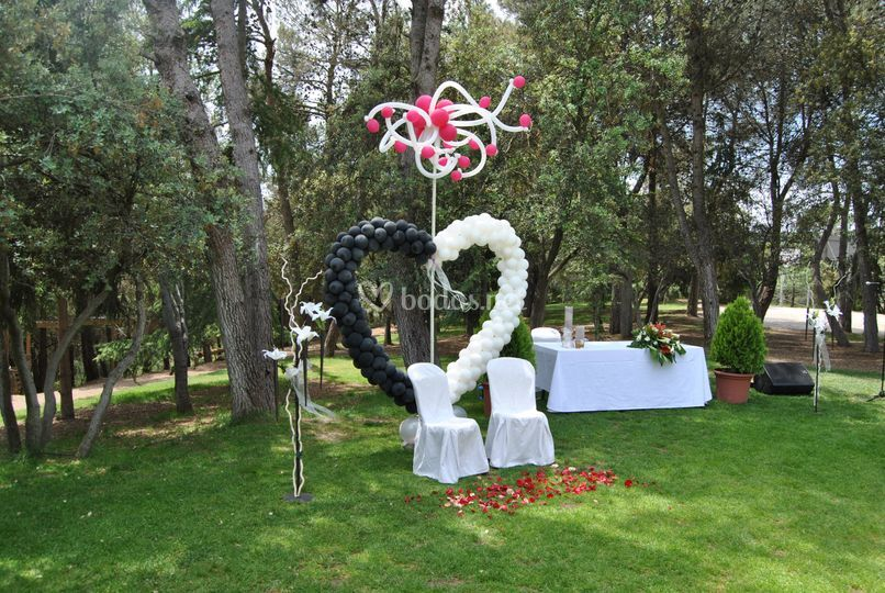 Boda Civil- Deco con globos