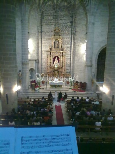 AC en ceremonia religiosa