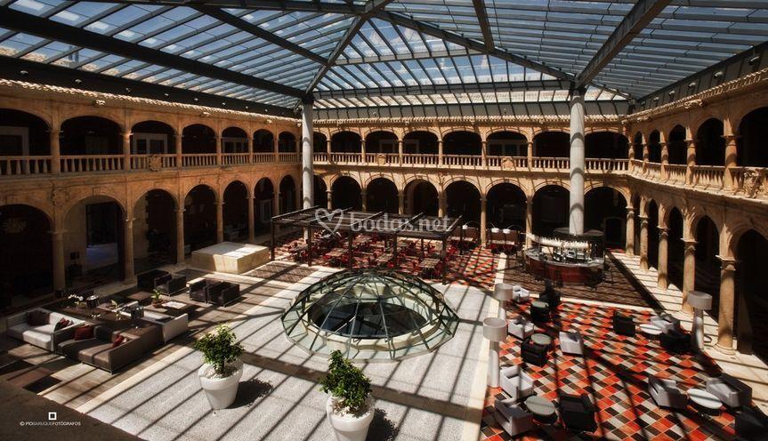 Claustro del hotel de Castilla Termal Burgo de Osma