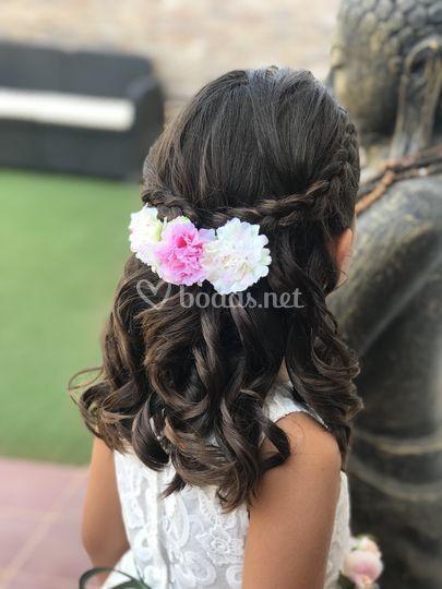Peinado para niñas de boda