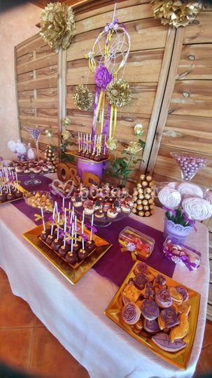 Detalle de mesa dulce
