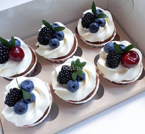 Cupcakes frutas