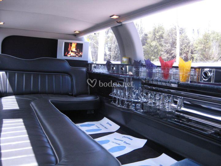 Interior limusina Lincoln Town Car