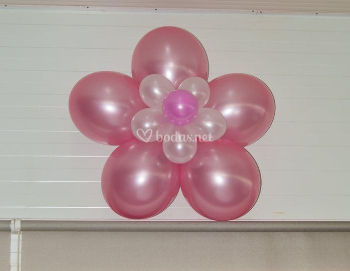 Flor con globos