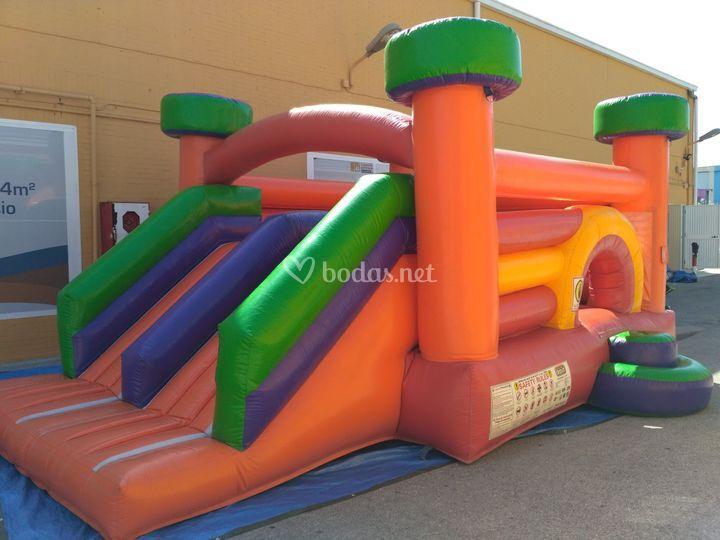 Castillo inflable doble tobogán