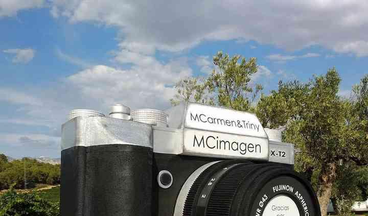 Photocall con cámara gigante
