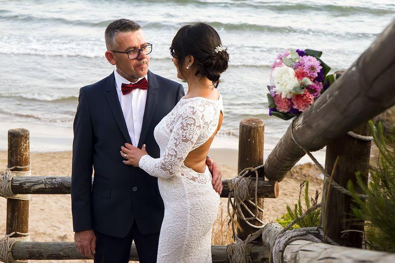 Foto de boda en la playa