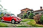 Fachada y coche de Finca San Miguel