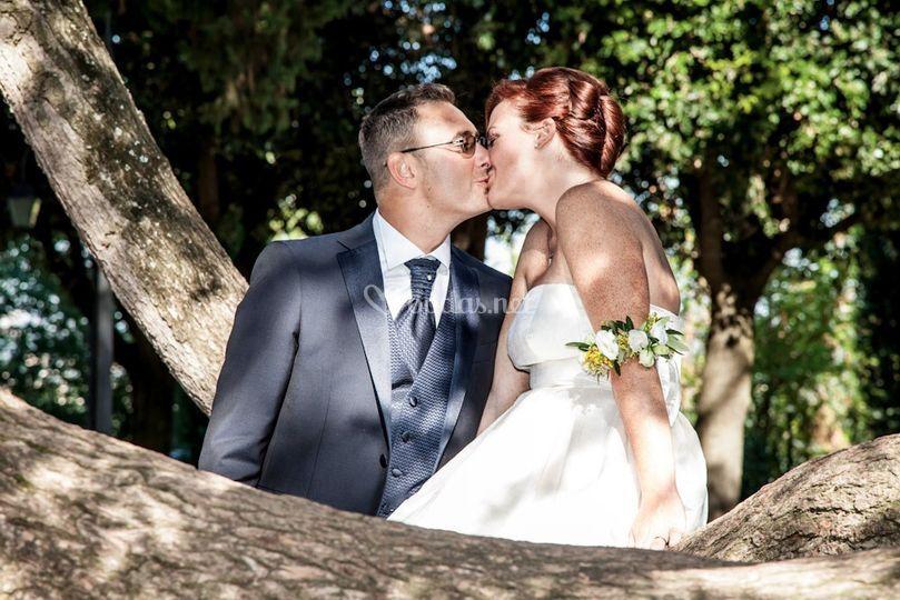 Beso de boda Claudio y Mara