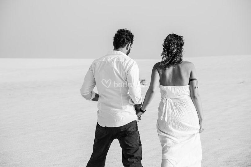 El camino de la boda