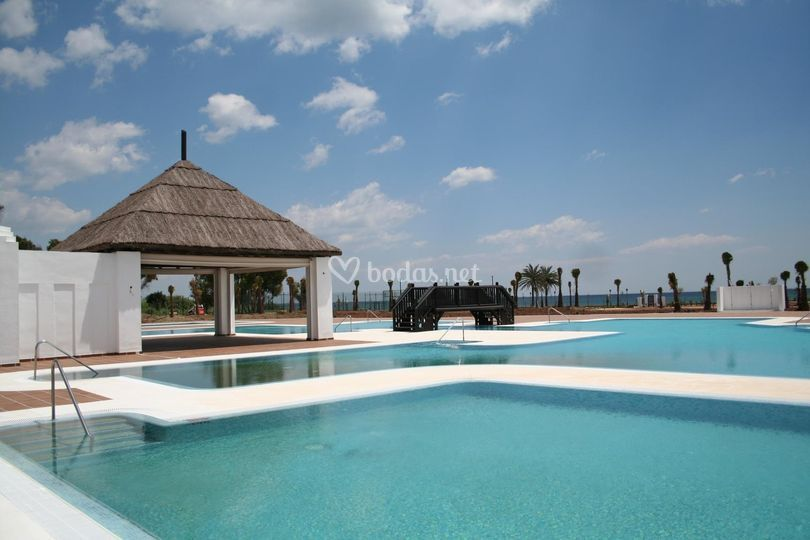 Zona piscinas