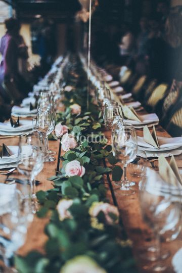 Guirnalda decorativa mesa