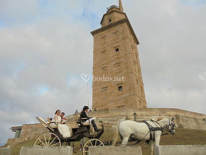 Boda Coruña, Torre de Hércules