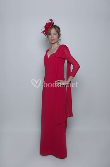 Vestido rojo Margot de madrina