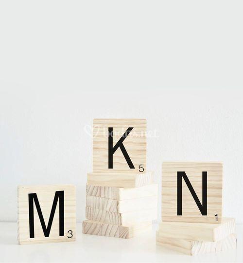 Scrabble para candy bar
