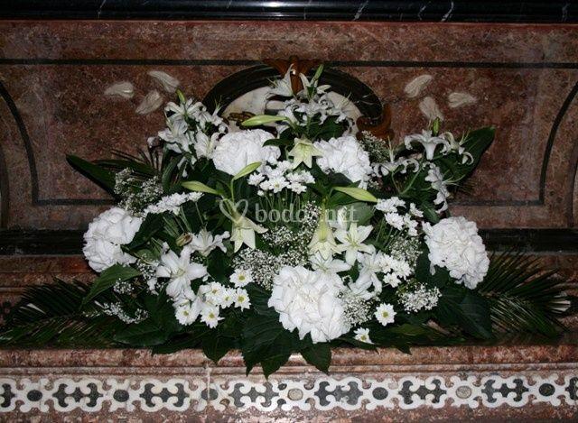 Flores en ceremonia