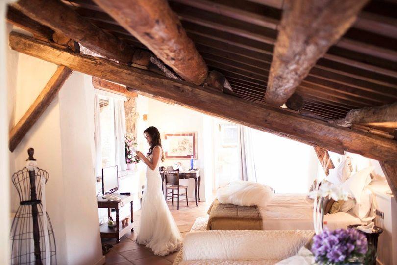 La novia se prepara en la Suit