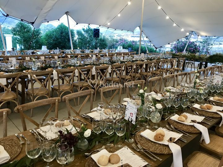 Mesa de celebraciones de boda