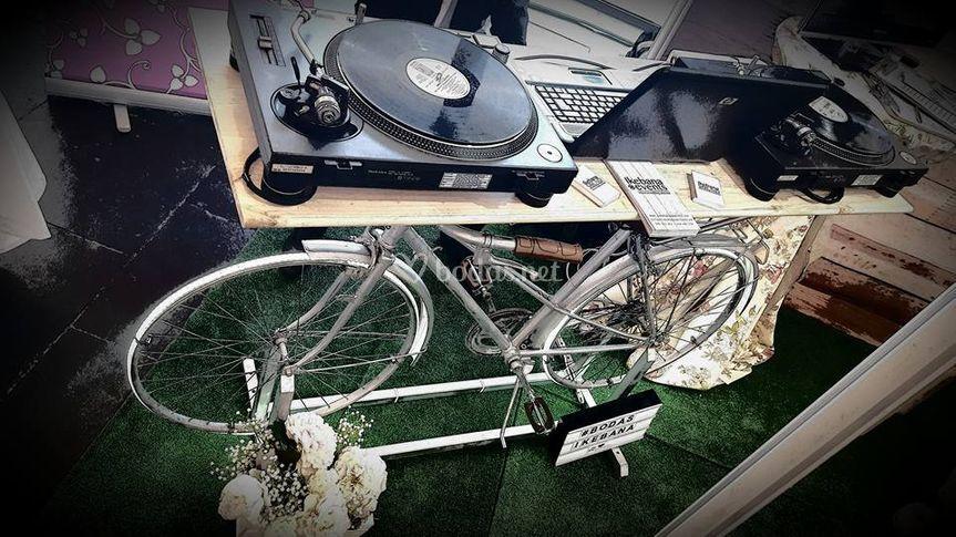 Discomóvil bicicleta vintage