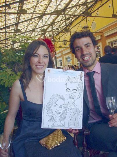 Caricatura en boda
