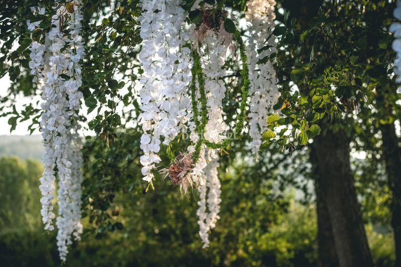 Detalle floral ceremonia
