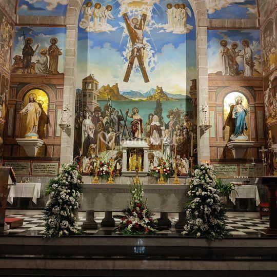 Adorno floral iglesia