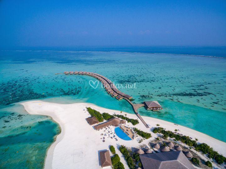 Vista aérea Cocoon Maldivas