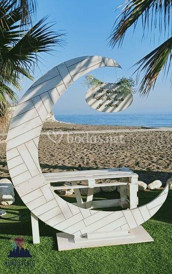 Boda C&J Photocall playa