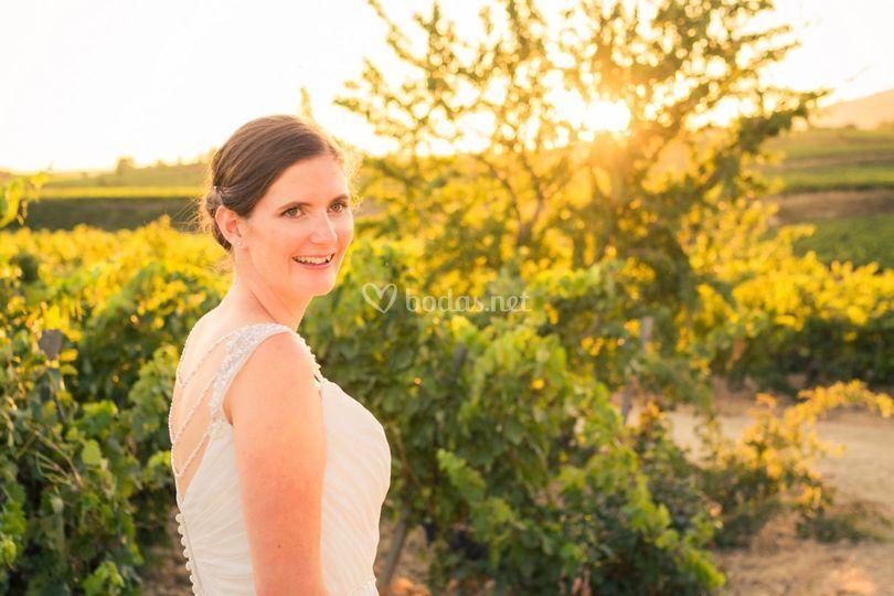 La novia sonríe