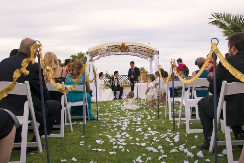 Invitados en la ceremonia