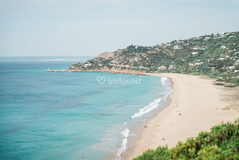Vistas playa de Atlanterra