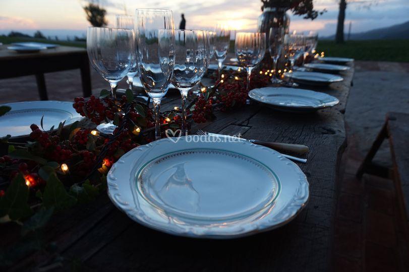 Espacio para el banquete