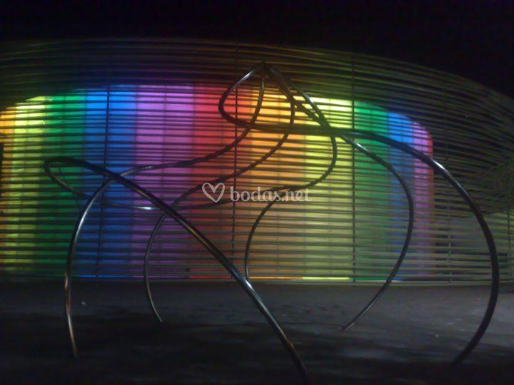 Iluminación del Palacio de Congresos Manuel Rojas