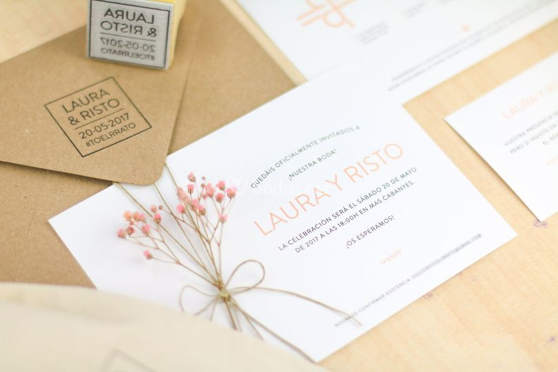 Invitación Laura y Risto