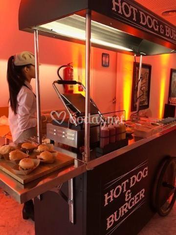 Carrito de hotdog & burguers