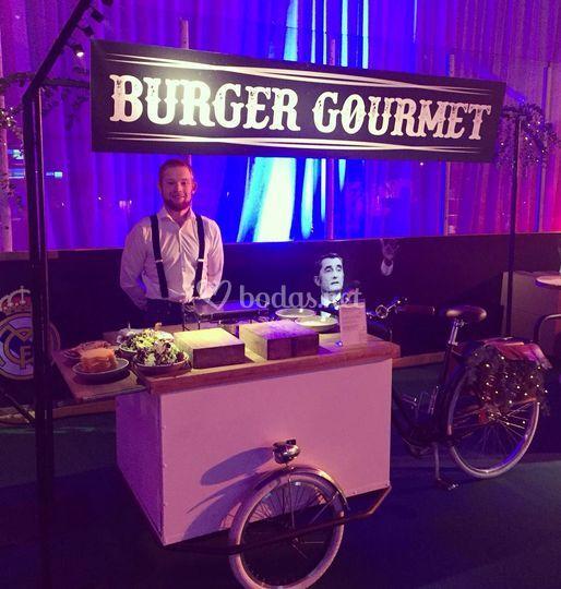 Bicicleta de hamburguesas