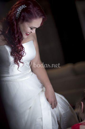 Yurena el dia de su boda