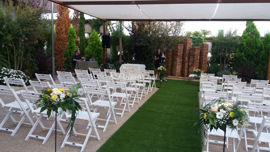 Preparativos para la ceremonia