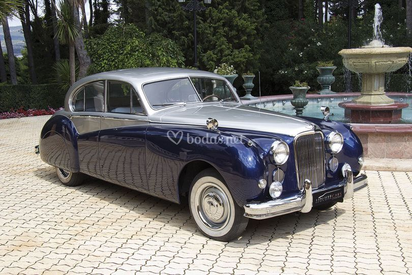 1956 jaguar mkvii blue / gris