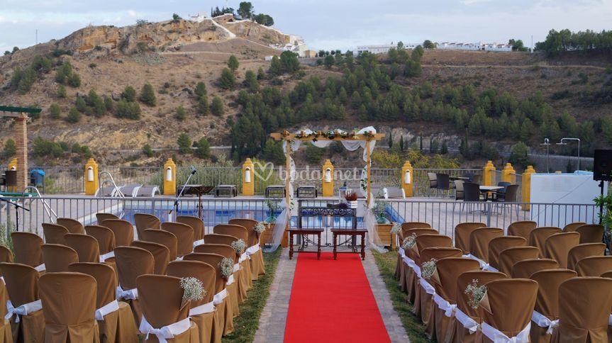 Ceremonia en piscina