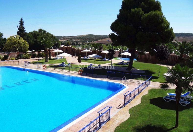 Jardines piscina de complejo juleca foto 11 for Jardines de piscinas