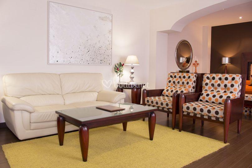 Zona de estar Suite Nupcial