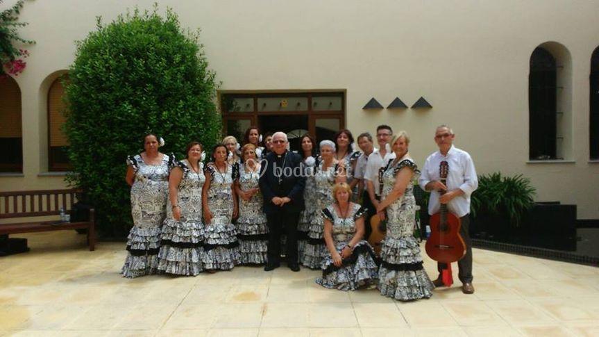 Con el Obispo de Girona