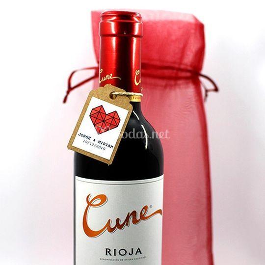 Botella cune personalizada