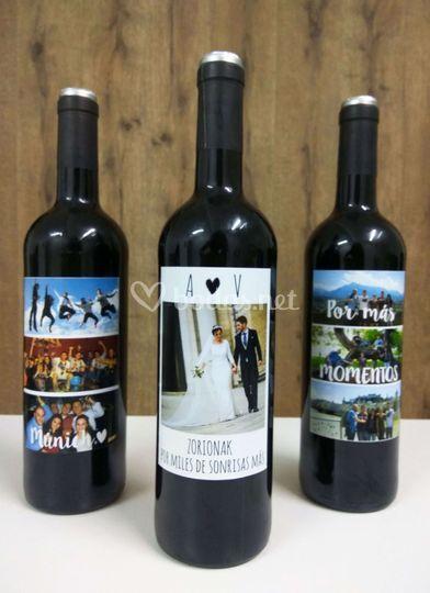 Botella de vino personalizadas