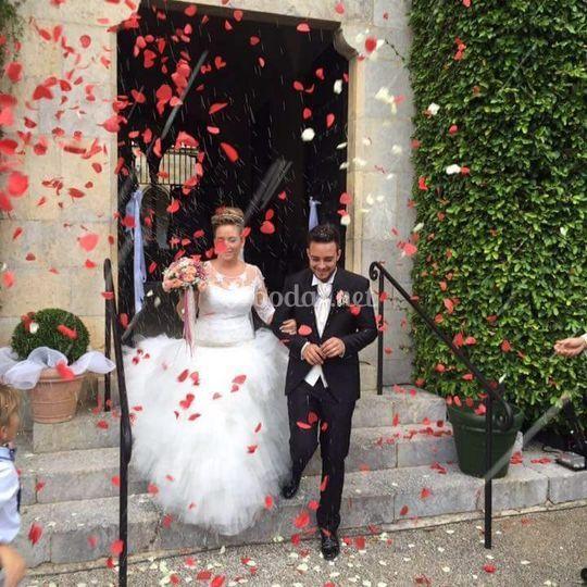 Confeti novios bodas
