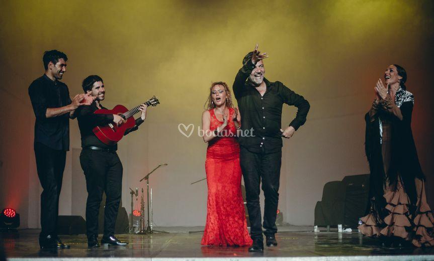 Cuadro de flamenco completo