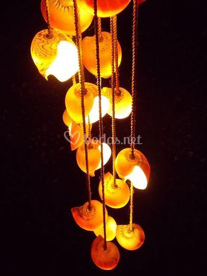 Lámpara conchas
