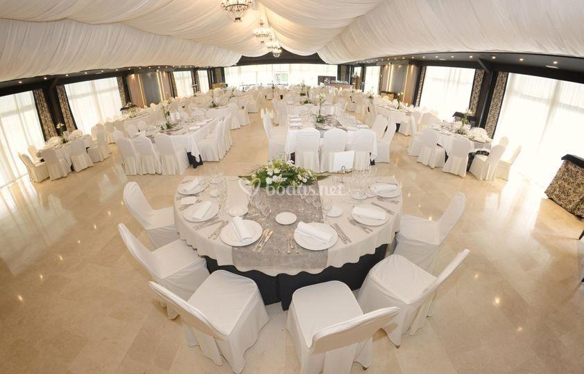 Salón para banquetes de Finca La Realeza