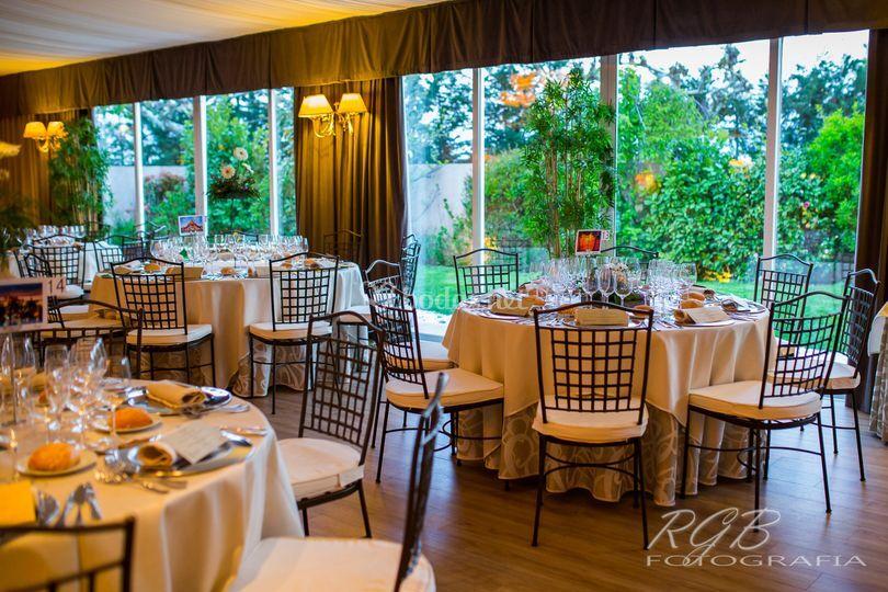 Detalle mesas Salón La Rotonda